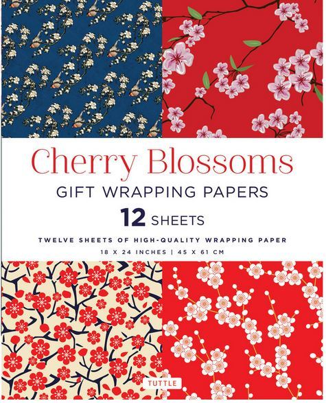 CHERRY BLOSSOMS GIFT WRAPPING PAPERS /ANGLAIS