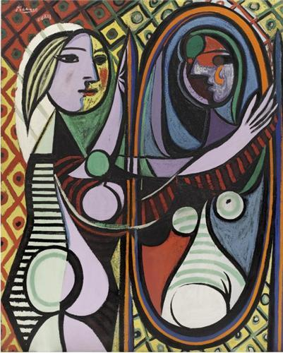 PABLO PICASSO GIRL BEFORE A MIRROR /ANGLAIS