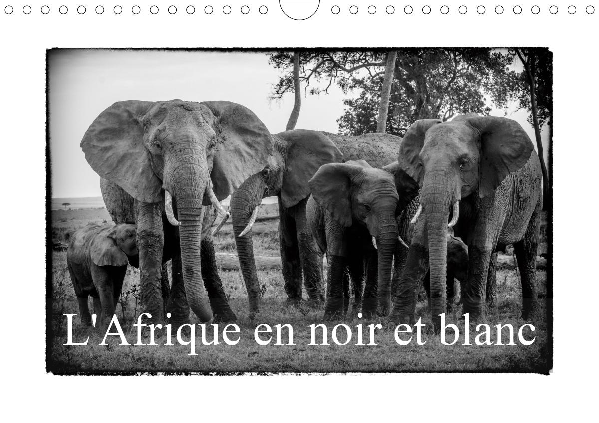 L AFRIQUE EN NOIR ET BLANC CALENDRIER MURAL 2020 DIN A4 HORIZONTAL - VISION INHABITUELLE DU MASAI M