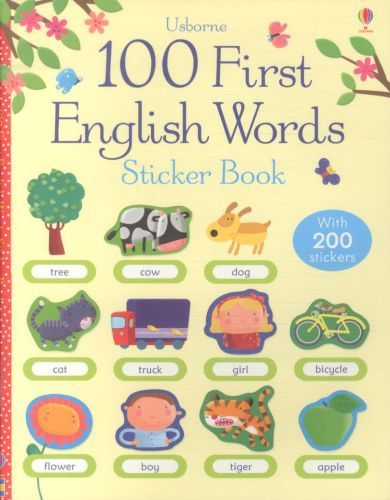 100 FIRST ENGLISH WORDS SITCKER BOOK