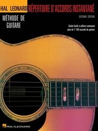 REPERTOIRE D'ACCORDS INSTANTANE - SECONDE EDITION GUITARE