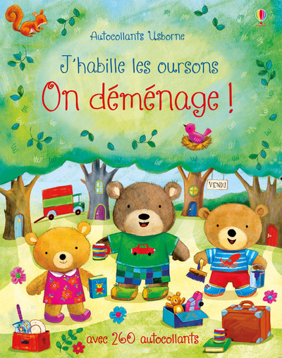 ON DEMENAGE ! - J'HABILLE LES OURSONS - AUTOCOLLANTS USBORNE