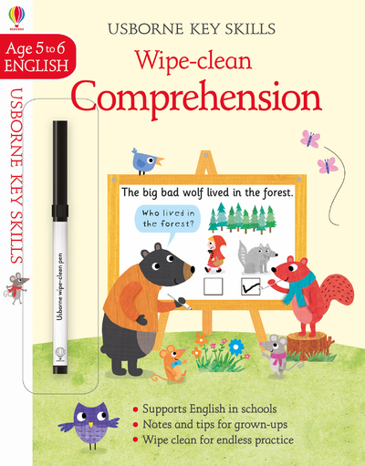 KEY SKILLS WIPE-CLEAN - COMPREHENSION - AGE TO 5-6