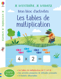 TABLES DE MULTIPLICATION  J APPRENDS EN M AMUSANT  MON BLOC D A