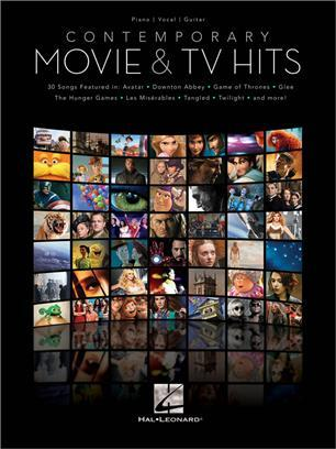CONTEMPORARY MOVIE & TV HITS PIANO, VOIX, GUITARE