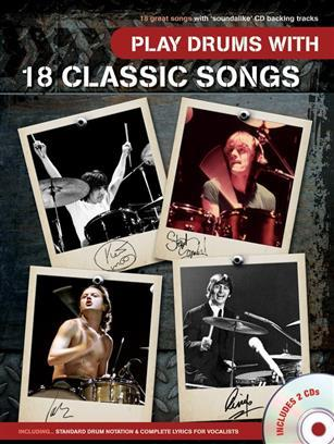 PLAY DRUMS WITH 18 CLASSIC SONGS +2CD