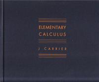 J CARRIER ELEMENTARY CALCULUS /ANGLAIS