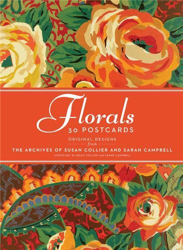 30 POSTCARDS COLLIER CAMPBELL FLORAL /ANGLAIS