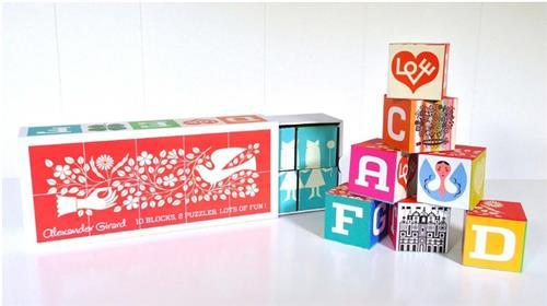 ALEXANDER GIRARD BLOCKS PUZZLES 26 LETTERS AND MORE /ANGLAIS