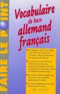 VOCABULAIRE DE BASE ALLEMAND-FRANCAIS