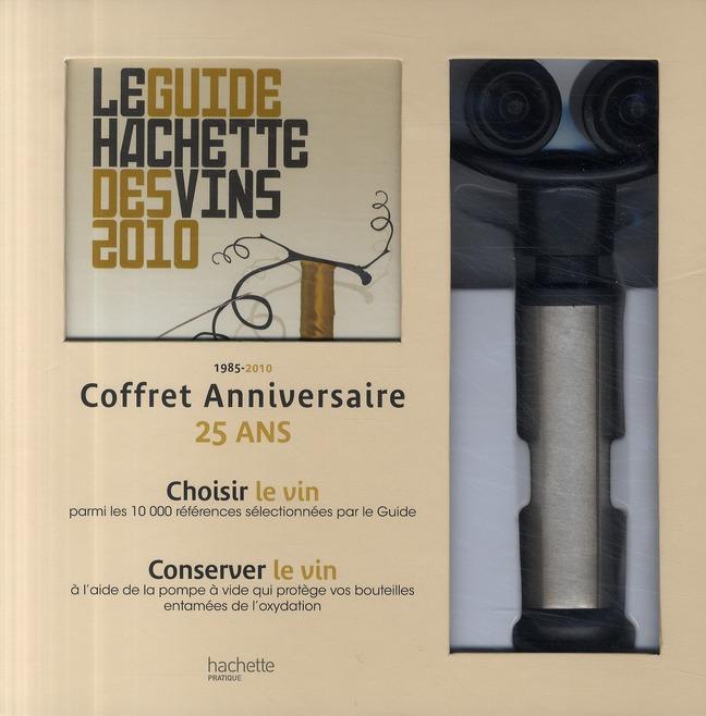 COFFRET SERVICE DU VIN DU GUIDE HACHETTE DES VINS 2010 + POMPE A VIDE