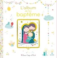 L'ALBUM DE MON BAPTEME - LIVRE AVEC ICONE SUR BOIS