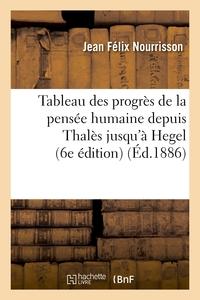 TABLEAU DES PROGRES DE LA PENSEE HUMAINE DEPUIS THALES JUSQU'A HEGEL (6E EDITION)