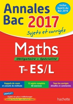 ANNALES BAC 2017 - MATHS TERM ES