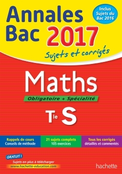 ANNALES BAC 2017 - MATHS TERM S