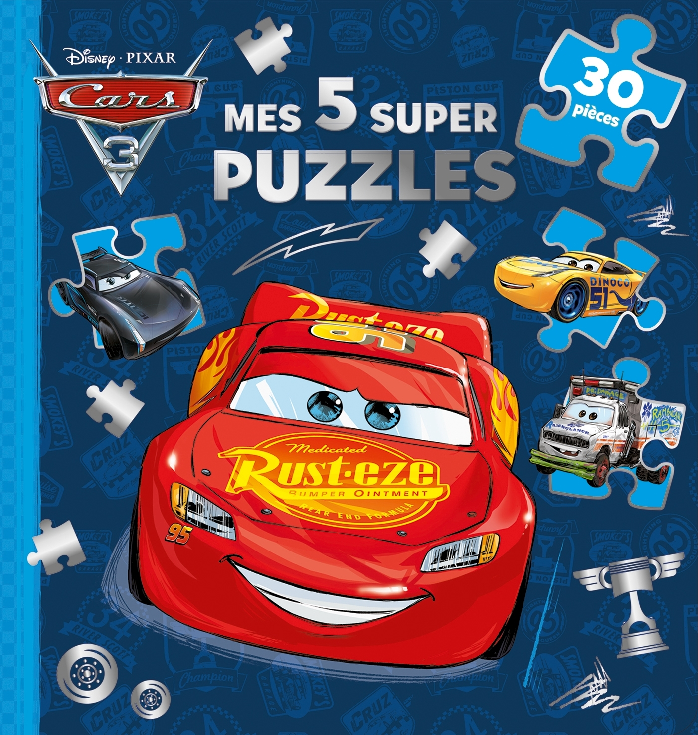 CARS 3 - MES 5 SUPERS PUZZLES 30 PIECES