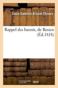 RAPPEL DES BANNIS, DE ROUEN