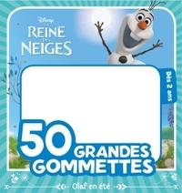 OLAF, REINE DES NEIGES, 50 GRANDES GOMMETTES