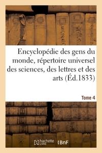 ENCYCLOPEDIE DES GENS DU MONDE T. 4.1