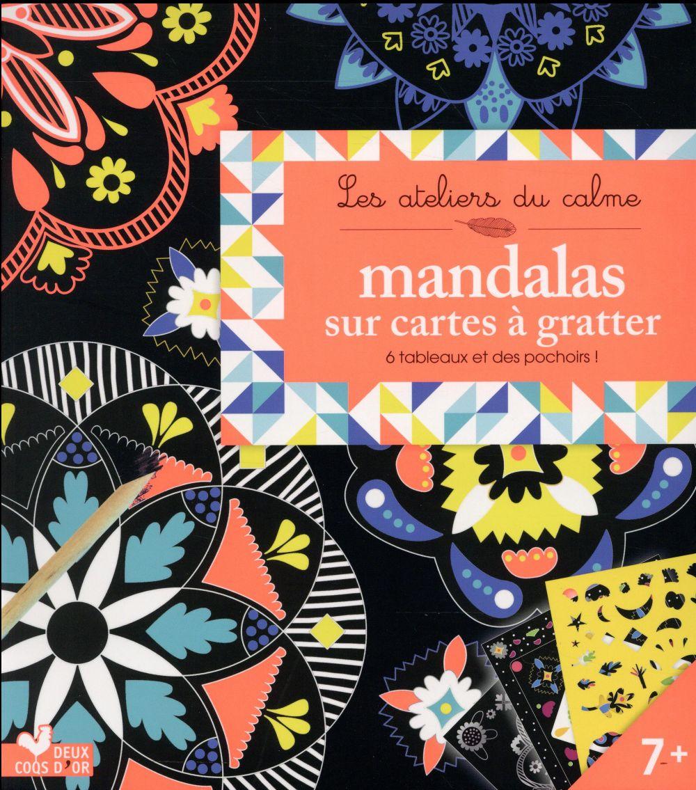MANDALAS SUR CARTES A GRATTER - BOITE AVEC ACCESSOIRES