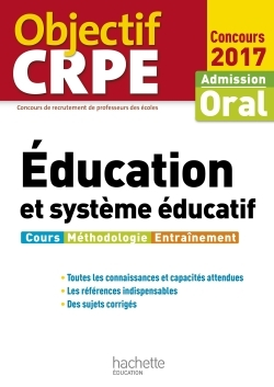 OBJECTIF CRPE EDUCATION ET SYSTEME EDUCATIF - 2017