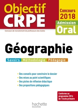 OBJECTIF CRPE GEOGRAPHIE 2018