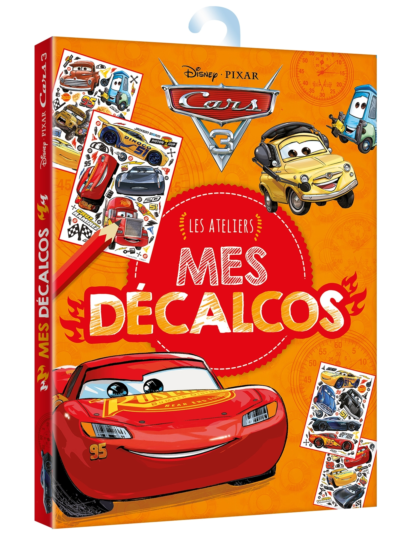 CARS 3 - LES ATELIERS DISNEY - MES DECALCOMANIES