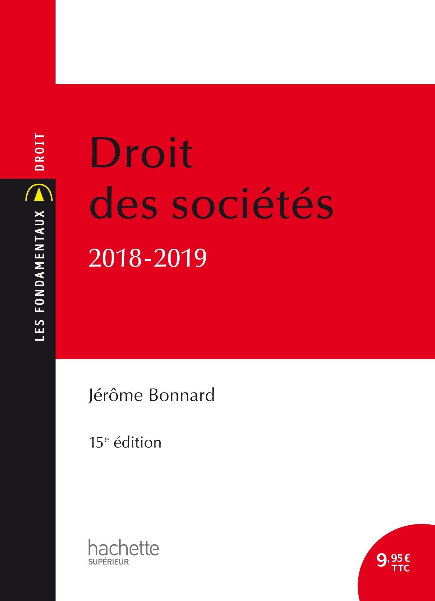 LES FONDAMENTAUX DROIT DES SOCIETES 2018-2019