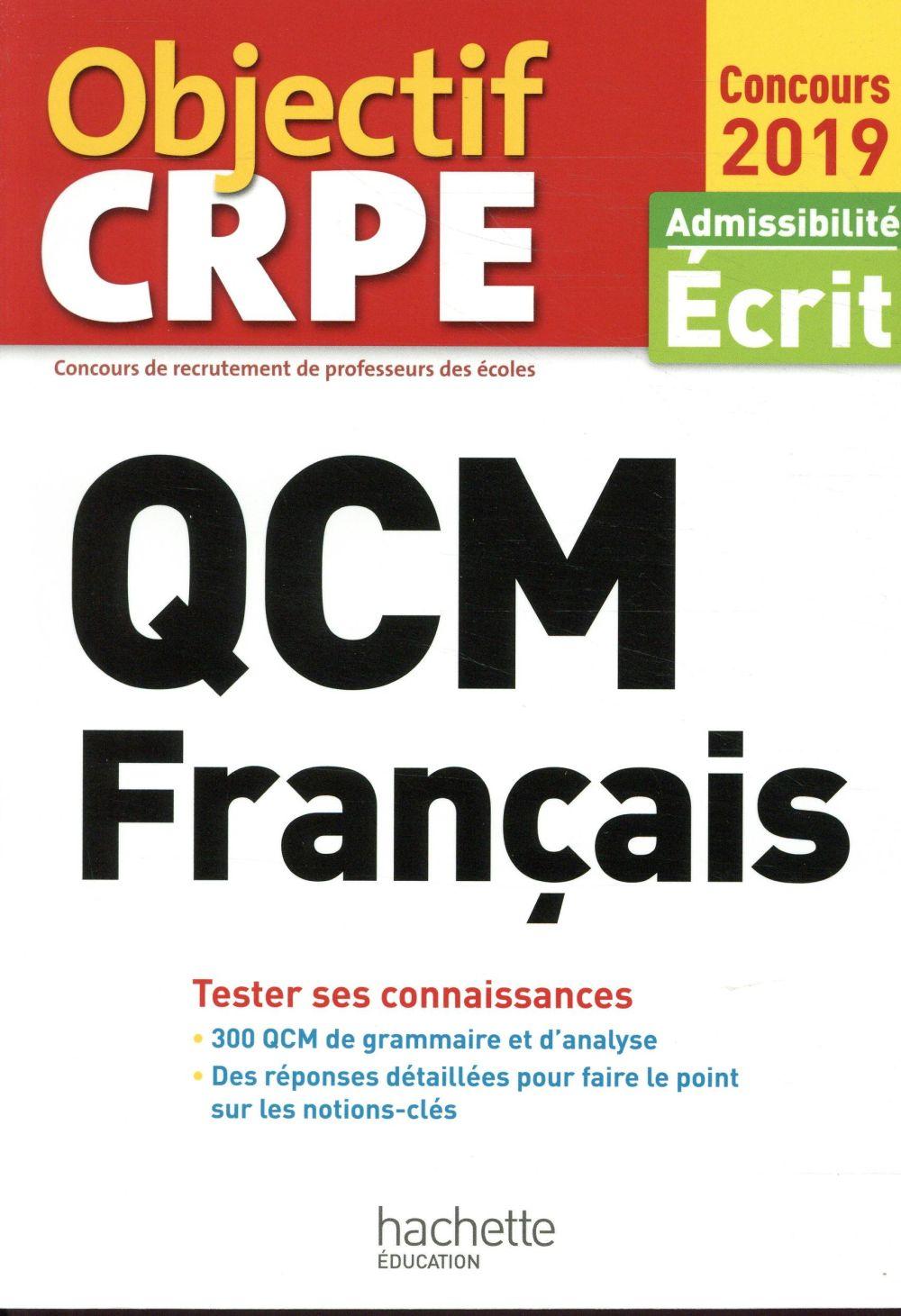 QCM CRPE : FRANCAIS 2019