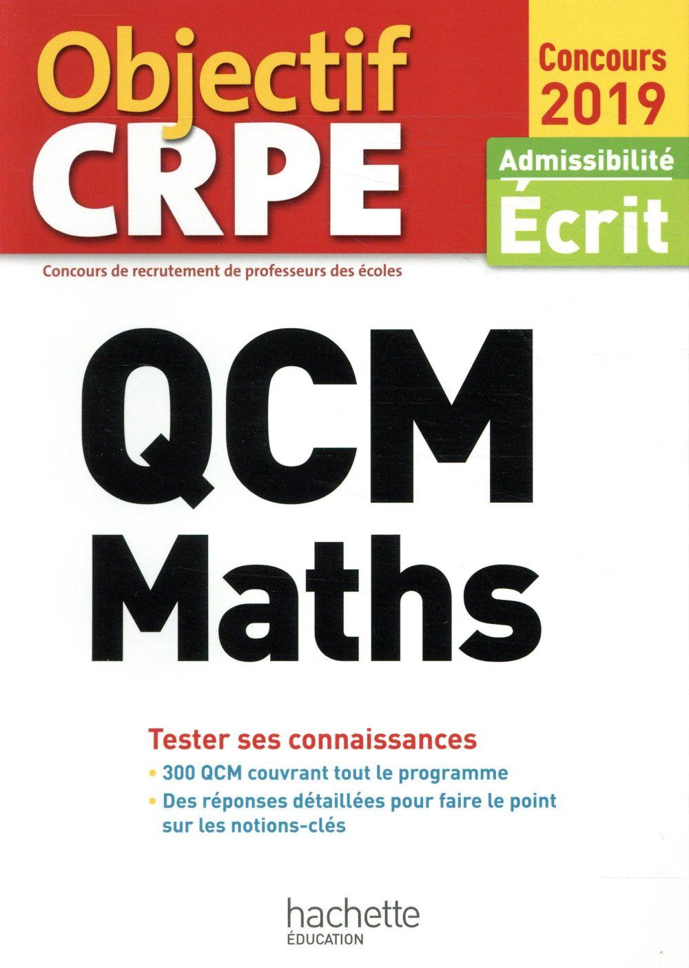 QCM CRPE : MATHS 2019