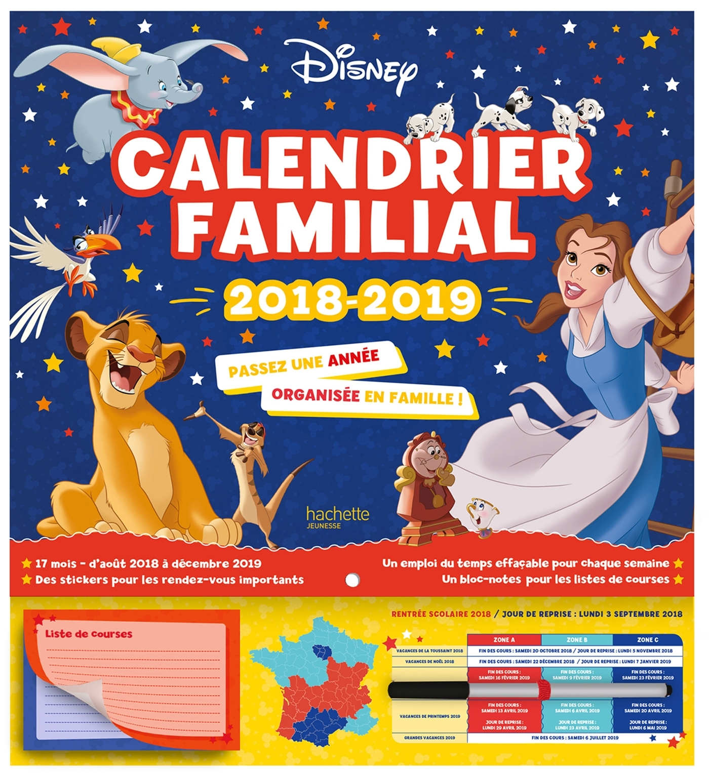 DISNEY CLASSIQUES - CALENDRIER FAMILIAL - UNE ANNEE ORGANISEE