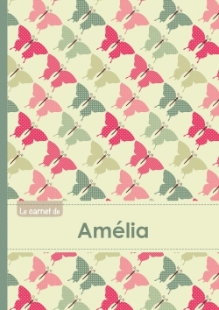 LE CARNET D'AMELIA - LIGNES, 96P, A5 - PAPILLONS VINTAGE