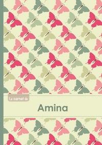 LE CARNET D'AMINA - LIGNES, 96P, A5 - PAPILLONS VINTAGE