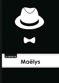 LE CARNET DE MAELYS - LIGNES, 96P, A5 - CHAPEAU ET N UD PAPILLON