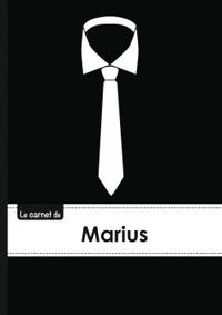 CARNET MARIUS LIGNES,96P,A5 CRAVATE