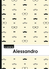 LE CARNET D'ALESSANDRO - LIGNES, 96P, A5 - MOUSTACHE HISPTER