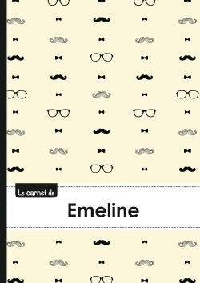 LE CARNET D'EMELINE - LIGNES, 96P, A5 - MOUSTACHE HISPTER