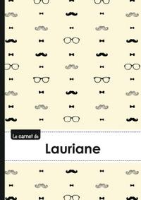 LE CARNET DE LAURIANE - LIGNES, 96P, A5 - MOUSTACHE HISPTER