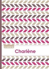 LE CARNET DE CHARLENE - LIGNES, 96P, A5 - MOTIFS VIOLET GRIS TAUPE