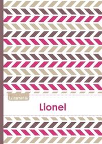 LE CARNET DE LIONEL - LIGNES, 96P, A5 - MOTIFS VIOLET GRIS TAUPE