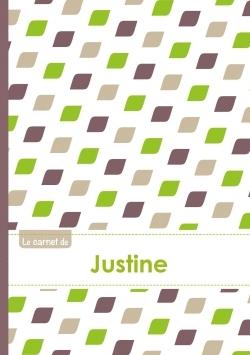 LE CARNET DE JUSTINE - LIGNES, 96P, A5 - PE TALES VERT TAUPE GRIS