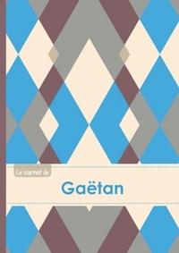 LE CARNET DE GAETAN - LIGNES, 96P, A5 - JACQUARD BLEU GRIS TAUPE