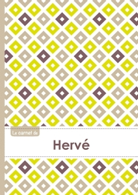 LE CARNET DE HERVE - LIGNES, 96P, A5 - CARRE POUSSIN GRIS TAUPE