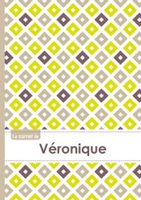 LE CARNET DE VERONIQUE - LIGNES, 96P, A5 - CARRE POUSSIN GRIS TAUPE
