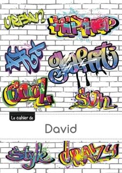 LE CARNET DE DAVID - PETITS CARREAUX, 96P, A5 - GRAFFITI