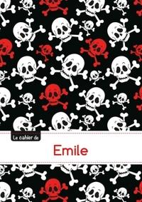 LE CARNET D'EMILE - PETITS CARREAUX, 96P, A5 - TETES DE MORT