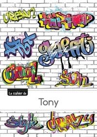 CARNET TONY SEYES,96P,A5 GRAFFITI