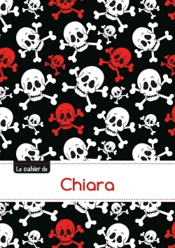 LE CARNET DE CHIARA - BLANC, 96P, A5 - TETES DE MORT