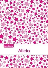 LE CAHIER D'ALICIA - PETITS CARREAUX, 96P, A5 - CONSTELLATION ROSE