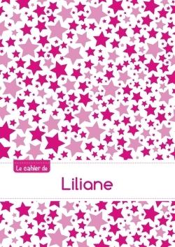 LE CAHIER DE LILIANE - PETITS CARREAUX, 96P, A5 - CONSTELLATION ROSE